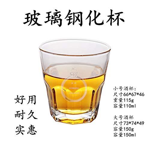 KTV bar nachtclub gehard glas bier glas whisky geesten waterglas achthoekige bril te koop, tien stalen trompet achthoekige bekers (110ml)