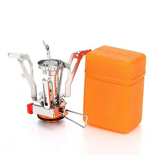 Spotact Mini Fornello da Campeggio a Gas Bruciatore Compatto Portatile Pieghevole Pieghevole Cucina Ideale per Campeggio Escursionismo Zaino da Pesca