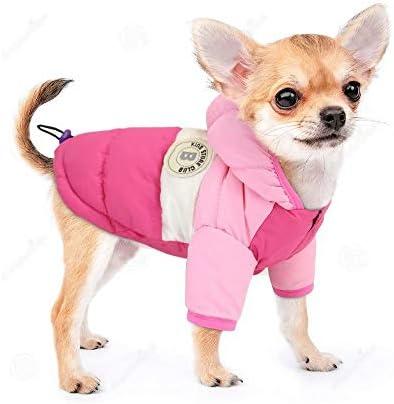 PET ARTIST Dog Winter Coat Hoodie Snowsuit Apparel with Leash Hole Waterproof Windproof Hooded product image