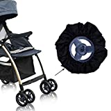 2 Pack Diameter 4.5-6.3 inch Baby Stroller Wheel Cover Dustproof Wheelchair Protector Cover Pushchair Wheel Cover Protector For Outdoor