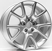 New 17 inch x 7.5 Alloy Replacement Wheel compatible with Dodge Dart 2013 2014 2015 2016 Silver Rim 2481 1TP82XZAAC