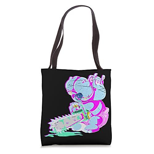 Kowai Hippopotamus Scary Vaporwave Animal Chainsaw Hippo Tote Bag