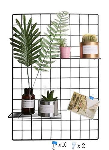 Griglia di ferro della foto parete semplice decorazione plaid creativo personalizzato foto sul muro appeso in famiglia, cucina, ufficio e così via (nero, 65 * 45 cm) / fai da te