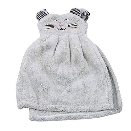 Sevenfly Küche saugfähige handtücher kreative hängende handtücher Nette kleidform handtücher, hellgrün