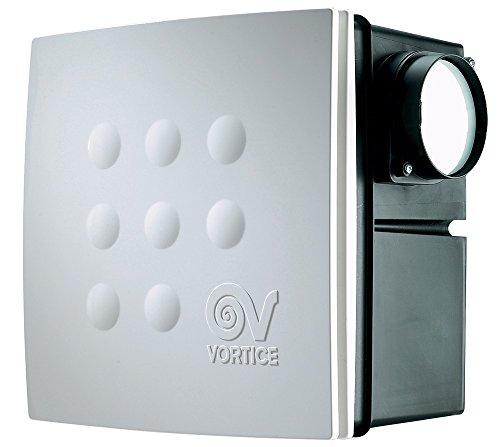 Vortice 12017 Micro 100 T Purificateur d'air, 27 W, 240 V, boîtier blanc, Ø 258 mm, raccord de tuyau Ø 92,5 mm