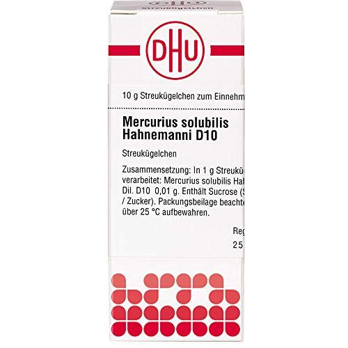 DHU Mercurius solubilis Hahnemanni D10 Streukügelchen, 10 g Globuli