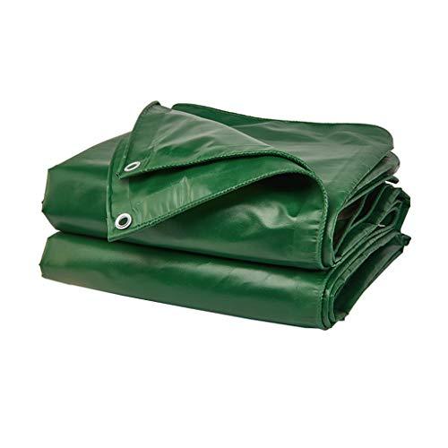 Lona 420gsm Cubierta de Lona a Prueba de Agua para Camping Lona con Ojales para Bota de Coche Bicicletas Jardín Madera 16 milésimas de Peso 420 g / ㎡ Verde