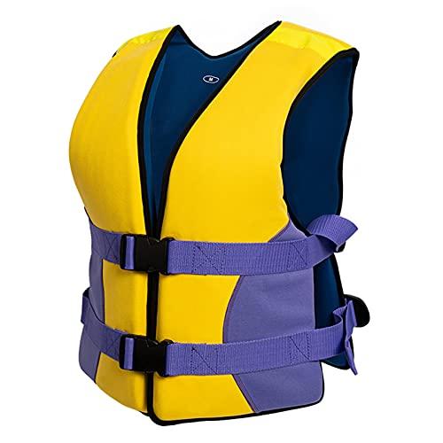HLYT-0909 Chaleco Salvavidas Flotante, Seguridad Profesional para Nadar, Tabla de Remo, Chaleco Salvavidas, Ayuda a la flotabilidad, Mujeres, Hombres para Hacer Snorkel, Kayak,L