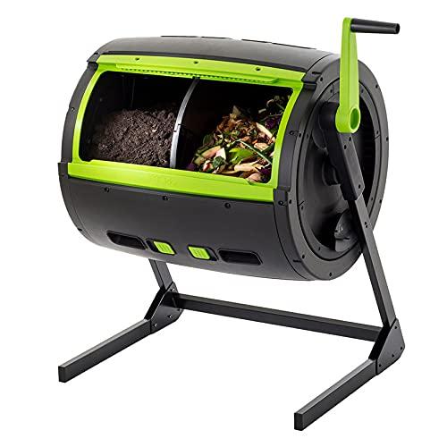Trommelkomposter Rotierender mit großem Fassungsvermögen 245 Liter ● Vereinfacht & Beschleunigt die Kompostierung ● Schutz vor Nagetieren