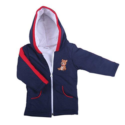 BRIM HUGS & CUDDLES Unisex Kid's Cotton Hooded Neck Stuffed Winter Jackets/Sweater (Navy, 2 to 3 Years)