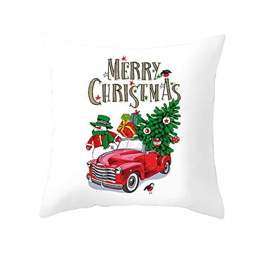 Funda cojín Funda almohada para sofá Impresión digital Funda almohada con estampado coche dibujos animados cojines decorativos para hogar funda almohada Navidad artefacto funda cojín piel melocotón
