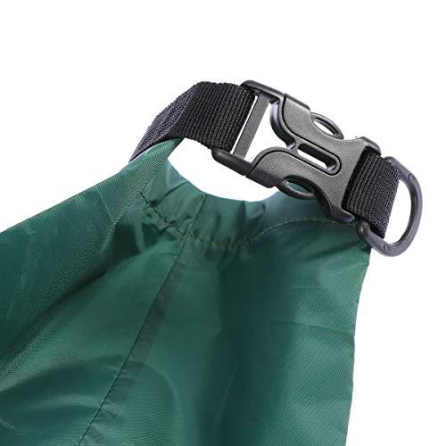 UEETEK 3 Stück / Set Wasserdichte Trockenbeutel,Ultra-light Nylon Packsacks für Camping Bootfahren Kajakfahren Rafting Angeln, ideal zum Speichern von Mobiltelefonen, Kamera, Schuhe, Armeegrün,(1,5 L + 2,5 L + 3,5 L) - 7