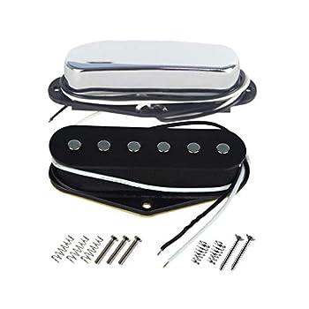 FLEOR Tele Bridge Pickup & Neck Pickup  Chrome  Tele Pickup Set Fit Fender Tele Guitar Part