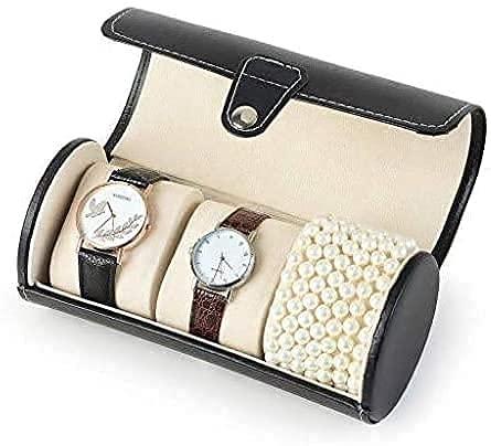 Oevina Caja de Reloj Gabinete de Reloj Mecedo Watch Box Organizer para Hombres Reloj Caja de Almacenamiento PU Cuero Reloj extraíble Reloj Reloj Exquisito