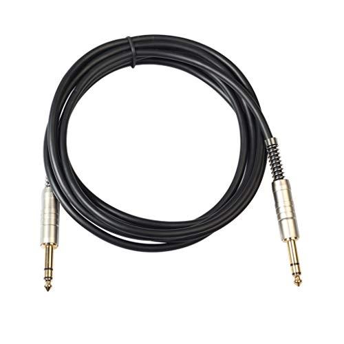 Iycorish Audio kabel voor heren, 6,35 mm, voor elektrische gitaar, een mannelijk Trs audio met tas, voor elektrische gitaar, microfoons, versterker, stereo, enz. -3 M
