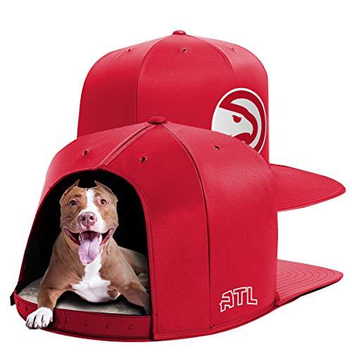 NAP CAP NBA Atlanta Hawks Team Branded Indoor Pet Bed, Red (Large)
