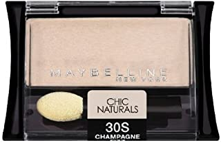 (Pack 2) Maybelline New York Expert Wear Eyeshadow Singles, 30s Champagne Fizz Chic Naturals, 0.09 Ounce