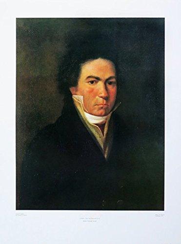 Ludwig van Beethoven: Vierfarbdruck des Öl-Gemäldes von 1815 von Johann Christoph Heckel (Poster und Bildtafeln)
