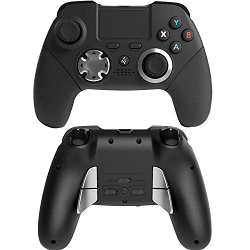 Wireless PS4 Modded Controller Custom Elite Programmable 6 Axis Sensor Dual Vibration PS4/PS3Wireless Game Controller Joystick with Back Paddles