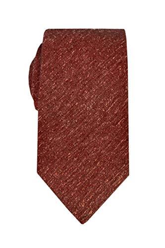 Remo Sartori Sartoriale Krawatte, gefüttert, aus Seide, Shantung, handgefertigt in Italien, für Herren, 63mm111, Rot, 63mm111 XX-Large
