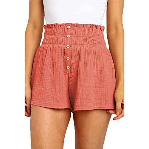 Casual Pants Damen 2021 Sommer Short Plissee Taschen A-Linie Stretch Spitze Hohe Taille Neue Shorts Frauen