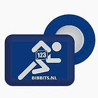 BibBits- Portadorsal deportivo, magnético, color azul