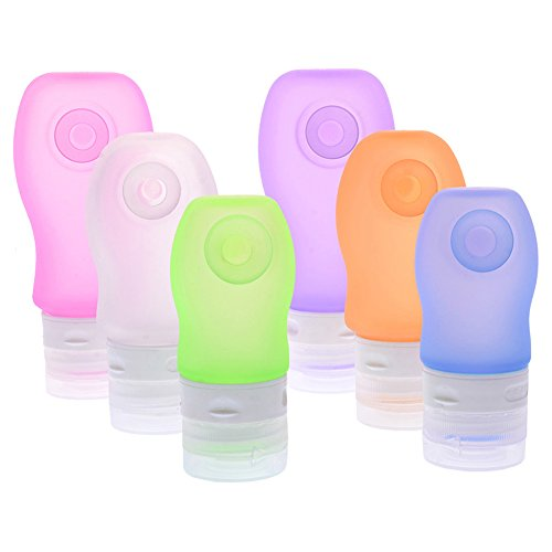 Airline Approved Silikon Reise Behälter - (89ml*2+60ml*1), Silicone Travel Bottles, (zufällige Farbe)