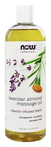 NOW Foods - Lavender Almond Massage Oil - 16 fl. oz.