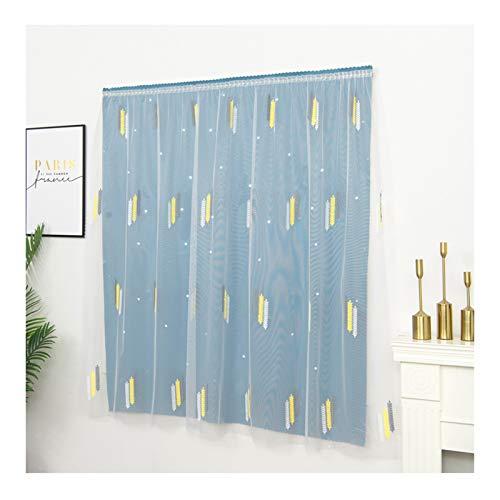 ACRD Cortinas, Velcro Shade Cloth Aislamiento Térmico Sunscreen Shade Niños Dormitorio Sala De Estar Cortinas Sin Perforaciones (tamaño : 120×195cm(47 x 76in))