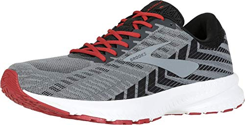 Brooks Men's Launch 6, Ebony/Black/Cherry, 10 D