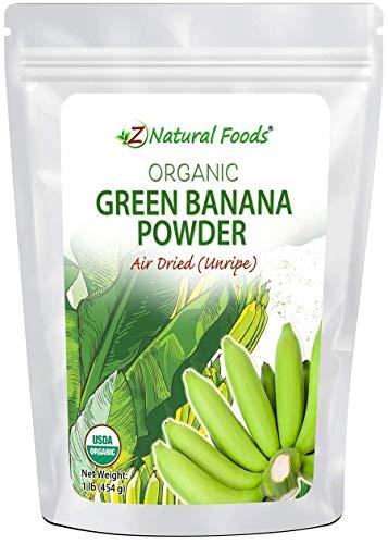 Organic Green Banana Flour - Air Dried & Unripe - Superfood Powder For Cooking & Baking Recipes - Versatile Wheat Flour Alternative - Vegan, Non GMO, Gluten Free, Grain Free & Kosher - 1 lb