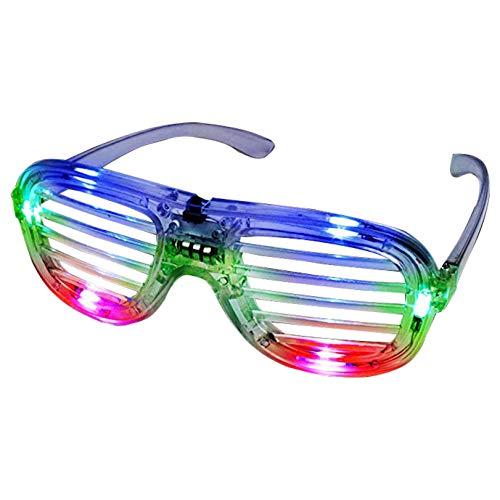 Mehrfarbige LED-Brille, Partybrille, Shutter-Design, Blinkend, Blinkend