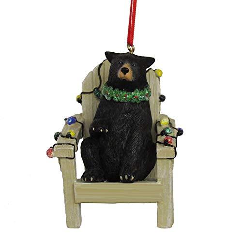 Kurt Adler Black Bear on Adirondack Chair Ornament