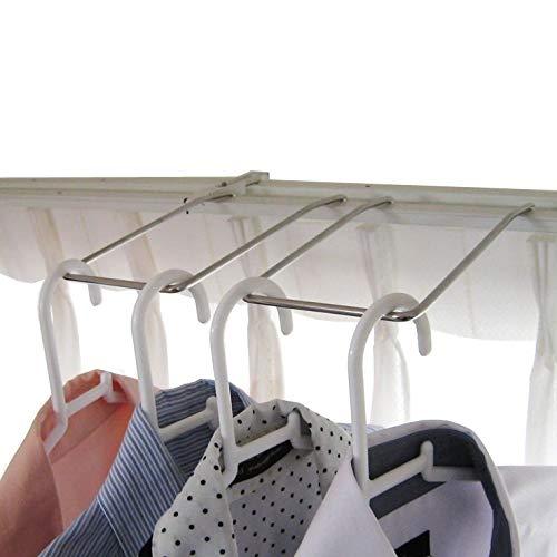 ダブルカーテンレール用 パーツ ハンガーラック2個組 室内物干し 洗濯ハンガー ハンガー収納 ランドリーラック 18-8ステンレス製 日本製