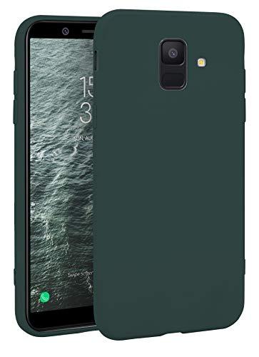 MyGadget Silikon Hülle für Samsung Galaxy A6 (2018) - robuste Schutzhülle TPU Hülle Slim Silikonhülle Back Cover Ultra Kratzfest Handyhülle - Matt Olivgrün