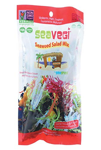 Seasnax, Seaweed Salad Mix, 0.9 Ounce