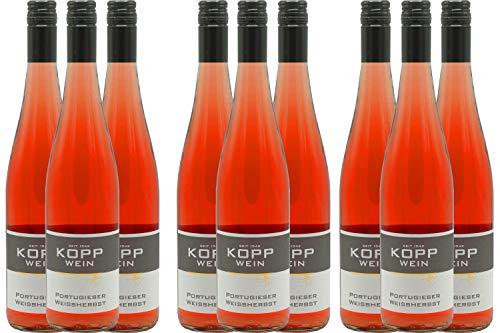 9 Flaschen 2018er Portugieser Rosè lieblich Deutscher Qualitätswein 0,75l, direkt vom Erzeuger: Weingut Kopp in Ranschbach