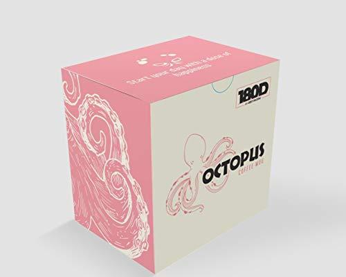 3D-Kaffeetasse mit Tentakel-Griff Oktopus Pink