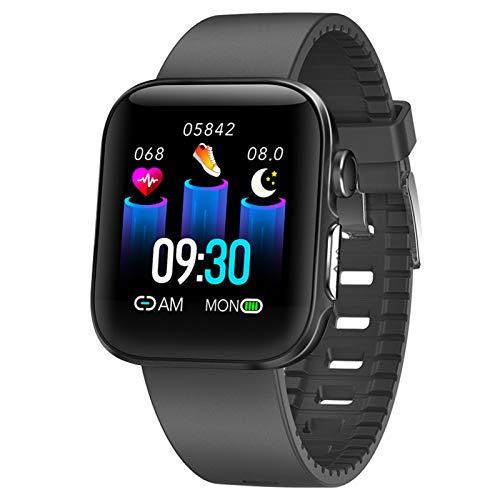 HQPCAHL Smartwatch,Reloj Inteligente con Pulsómetro,Cronómetros,Calorías,Monitor De Sueño,Podómetro Monitores De Actividad Impermeable IP68 Smartwatch Hombre Reloj Deportivo para Android iOS,Negro