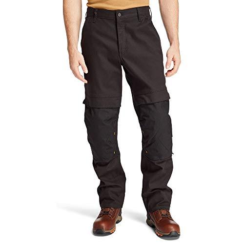 Timberland PRO Men's Bender Utility Work Pant, Jet Black, 38/32