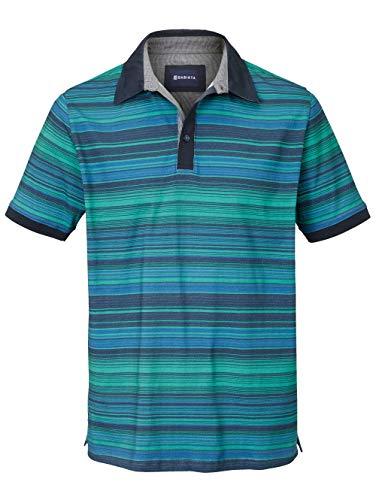 BABISTA Herren Regular Fit Poloshirt Gestreift in Grün aus Baumwolle
