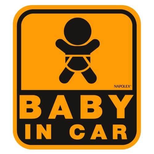 ナポレックス 車用 サイン セーフティーサイン BABY IN CAR マグネットタイプ(外貼り) 傷害保険付 SF-32