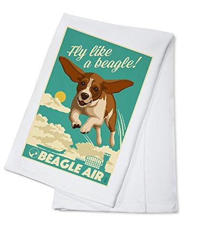 Beagle - Retro Aviation Ad (100% Cotton Kitchen Towel)