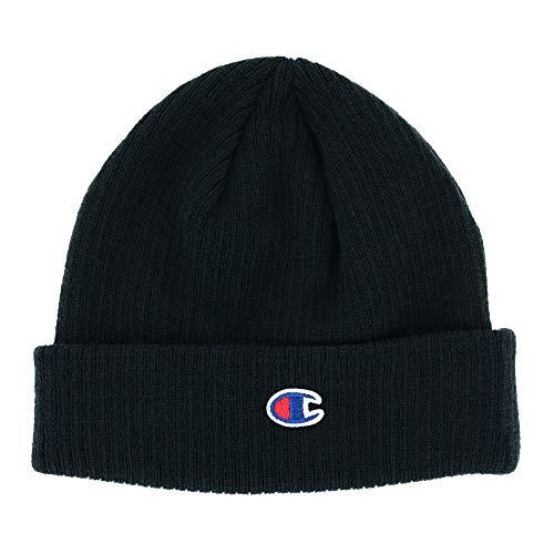 Champion Womens Ribbed Knit Cap (CS4003) -Black -One Size