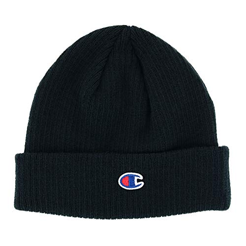 Champion - Ribbed Knit Cap - CS4003 - One Size - Black