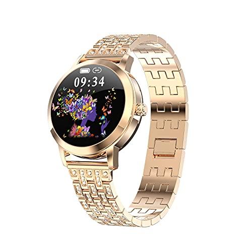 HUYAYUN Monitor de Actividad física, Pantalla de Raqueta de 1,04 Pulgadas, Esfera de Reloj Personalizada, Tiempo Menstrual, recordatorio de Llamada de Mensaje Inteligente, IP68 Resistente...