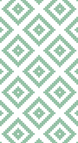 Lovib Alfombra Vinílica Geométrica Rombo | Color Verde Menta | 140x200 cm | Vinilo PVC | Alfombra Cocina Vinilo | Alfombra Salón Antideslizante Antihongos Ignífuga | Alfombras Grandes | Alfombras PVC