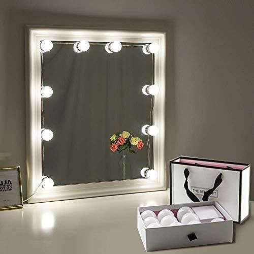 Chende 女優ライト プレゼント ギフト ハリウッドスタイル 簡単にDIY 10個LED電球 無階段調光 大切な人への贈り物  …