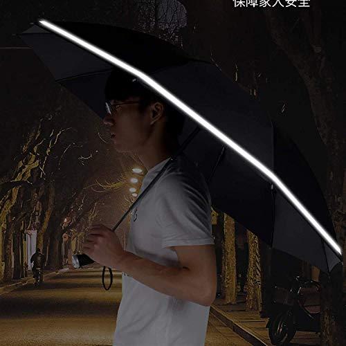 QFUNDAS Anti-UV Paraguas Mujer 8, Apertura Automática, Paraguas Transparente Resistente, Ligero y Elegante, Color Azul Paraguas Transparente, Cortaviento, Mango Curv