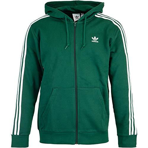 Adidas 3 strisce Full Zip Hoody verde scuro M